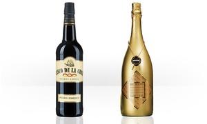 Bacchus  Weine der Welt: 1,5 Stunden Weinprobe plus einer Flasche Sherry oder Magnum-Flasche Sekt von Bacchus Weine der Welt (78% sparen*)