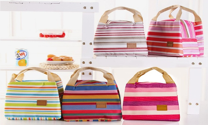 Striped Thermal Lunch Bag from £3.98 (Up to 77% Off)