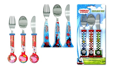 Paw Patrol ThreePiece CharacterThemed Cutlery Set for Kids