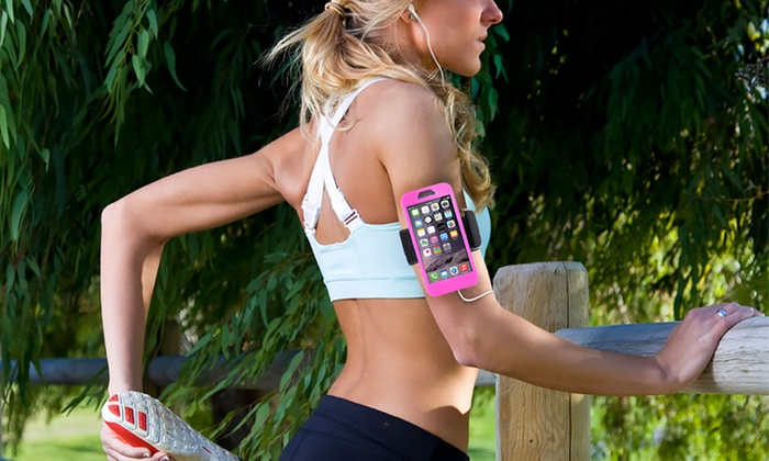 Gear Beast GearBand Marathon Silicone Sports Armband with Screen Protector for Apple iPhone 6/6s wit...