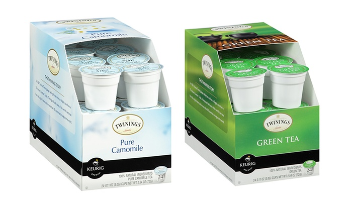 Two 24-Packs of Twinings Green Tea or Chamomile Tea K-Cups: Two 24-Packs of Twinings Green Tea or Chamomile Tea K-Cups