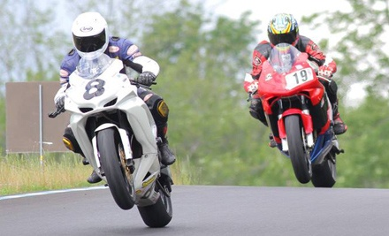 Annual Membership with One or Two All-Day Track Rentals for a Motorcycle or Car at New York Safety Track (Up to 58% Off)