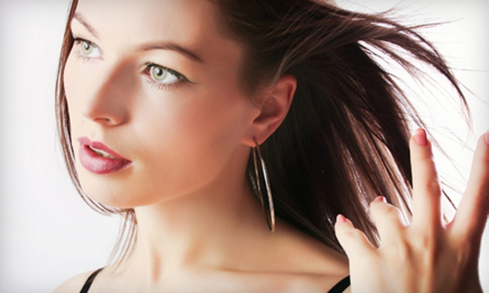 Purity Hair Design - Voorheesville: Cut with Optional Highlights, One Shampoo and Manicure, or Three Shellac Manicures at Purity Hair Design (Up to 60% Off)