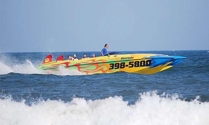 """Stormin Speed Boat - Ocean City: Speedboat Dolphin Tour with Digital Photo for 1, 2, or 4 from """"Stormin"""" Shore Water Sports, LLC (Up to 36% Off)"""