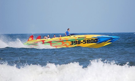 "Speedboat Dolphin Tour with Digital Photo for 1, 2, or 4 from ""Stormin"" Shore Water Sports, LLC (Up to 36% Off)"