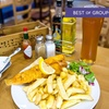Fish and Chips with Wine