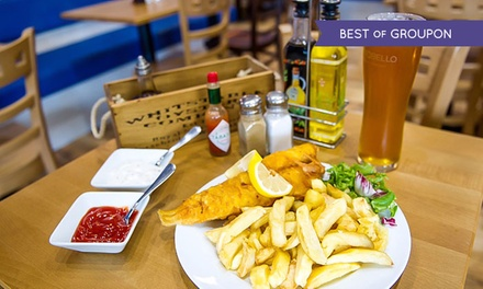 Fish and Chips with Beer or Wine for One, Two or Four at Seawise Camden (52% Off)