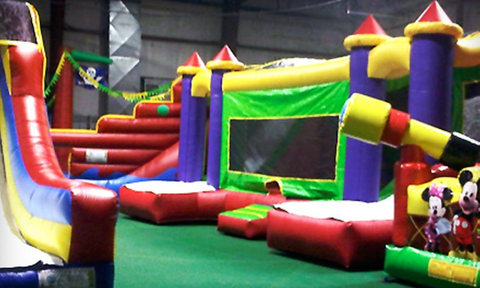 Inline 1 Bounce and Play - Mount Sinai: All-Day Indoor Bounce House for One, Two, or Four Kids at Inline 1 Bounce and Play (Up to 58% Off)