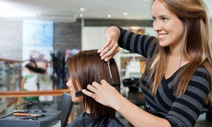 65th Street Salon Studio: Brazilian Blowout or Haircut with Optional Color or Highlights at 65th Street Salon Studio (Up to 69% Off)