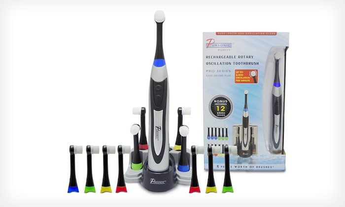 Pursonic Deluxe Electric Toothbrush: $48.99 for a Pursonic Deluxe Plus Rechargeable Electric Toothbrush with 12 Brush Heads ($99 List Price). Free Shipping.