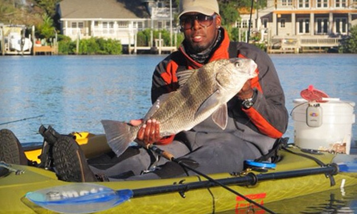 Flatsmasters Fishing Adventures - Sun Bay South: Four-Hour Guided Kayak Fishing Trip for One or Two from Flatsmasters Fishing Adventures (Up to 55% Off)