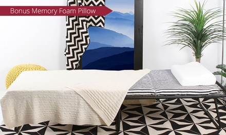 $99 for a Folding Ottoman Bed with Memory Foam Pillow