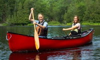 Half-Day Canoe Hire for Up to Two Adults and One Child at Haven Banks