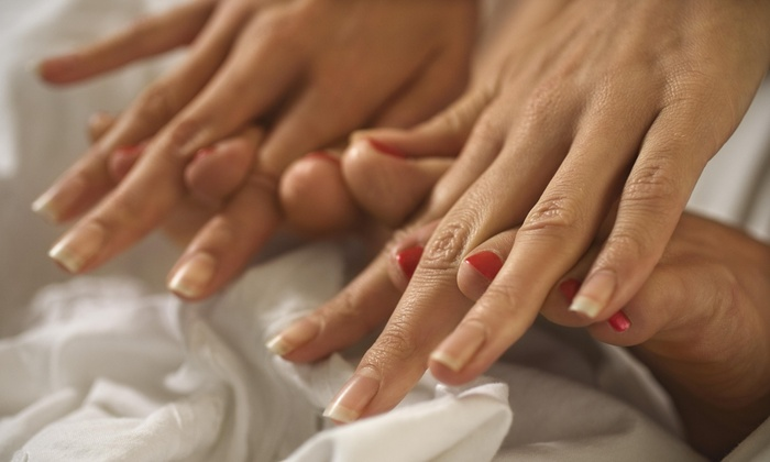Salon Hot Topiq - Oak Park: A Spa Manicure and Pedicure from Nails by LaMitch  (51% Off)
