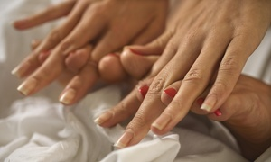 Salon Hot Topiq: A Spa Manicure and Pedicure from Nails by LaMitch  (51% Off)