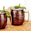 16-Ounce Antique Hammered Solid Copper Moscow Mule Mugs (2-Set)