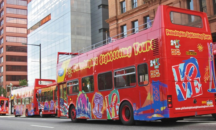 Philadelphia Sightseeing Tours - Center City East: Historical Hop-On Hop-Off Tour for One, Two, or Four from Philadelphia Sightseeing Tours (Up to 56% Off)