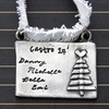 Personalized Pewter Christmas Ornament