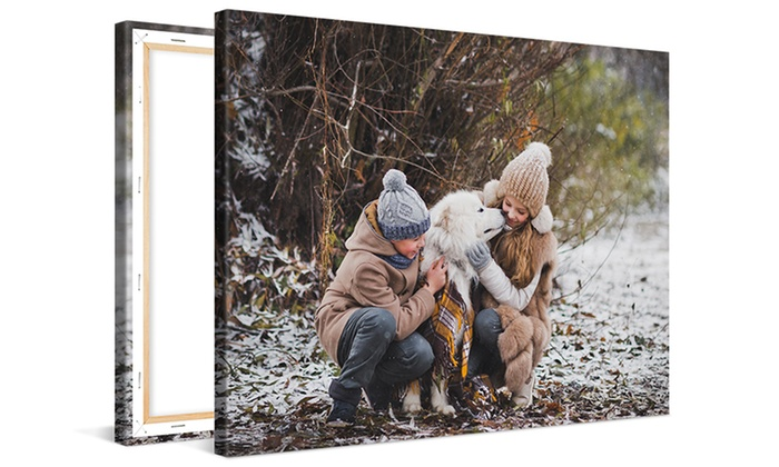 Save up to 89% on One or Two Custom XXXL Canvas Prints
