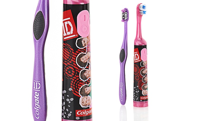 3-Pack of Colgate One Direction Toothbrushes: 3-Pack of Manual or 2-Pack of Powered Colgate One Direction Toothbrushes