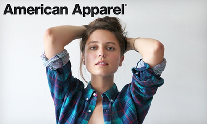 American Apparel - St John's: $20 for $40 Worth of Clothing and Accessories Online or In-Store at American Apparel. Valid in Canada Only.