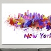 Vibrant Watercolor Skylines on Gallery-Wrapped Canvas
