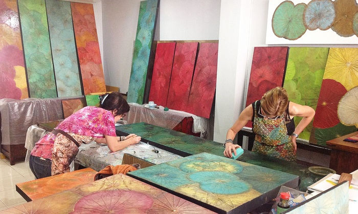 Himapan Canada - Woodbine: Lotus-Leaf Painting Party for One or Two at Himapan Canada (Up to 50% Off)