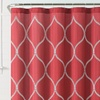 """Embroidered 72""""x72"""" Fabric Shower Curtain"""