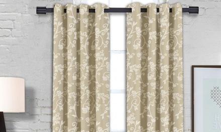 Michelle Grommet Window-Panel Pair