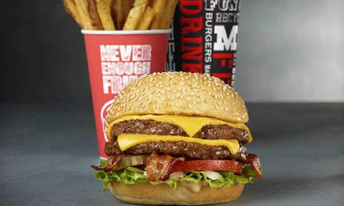 Mooyah - Tulsa: Burger Meal for Two or Four with Burgers, Fries, and Soft Drinks at Mooyah (Up to 55% Off)