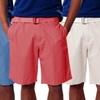 Visitor Men's Belted Flat-Front Shorts