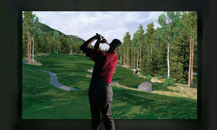 Golf Anytime - Marriott City Center: 18 Holes of Simulated Golf for One or Two or Golf Lesson and Swing Analysis at Golf Anytime (Up to 55% Off)