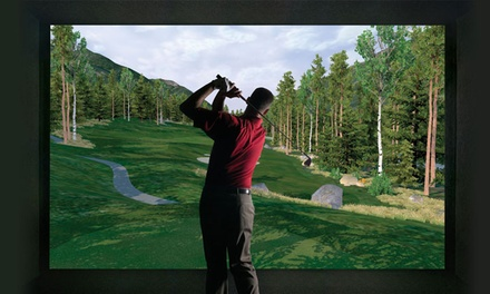 18 Holes of Simulated Golf for One or Two or Golf Lesson and Swing Analysis at Golf Anytime (Up to 56% Off)