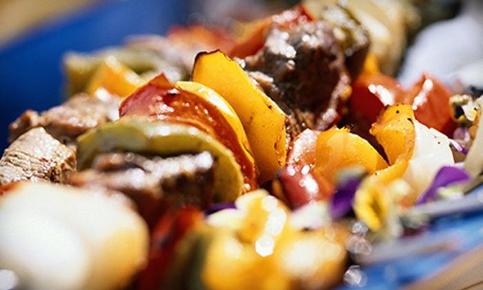 Almaza Hookah Lounge Restaurant - Silverado Ranch: Mediterranean Dinner for Two or Four at Almaza Hookah Lounge Restaurant (Up to 56% Off)