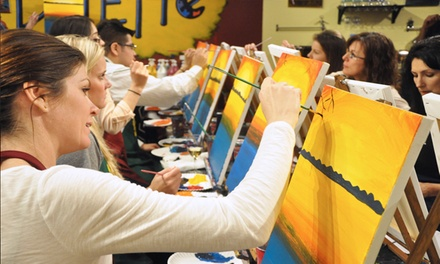 Two- or Three-Hour Painting Class for All Levels from Pinot's Palette(Up to 49%Off)