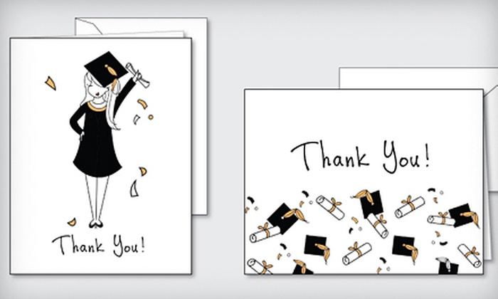 philoSophie's - Maplewood: Box Set of 25 Graduation Thank-You Cards from philoSophie's in Spencerport (Half Off). Two Options Available.