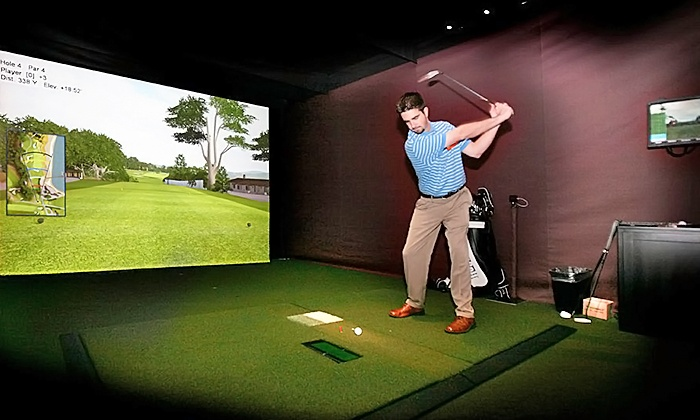 Cattails Golf Club - Lyon: Golf Simulator with Beers at Cattails Golf Club (57% Off). Four Options Available.