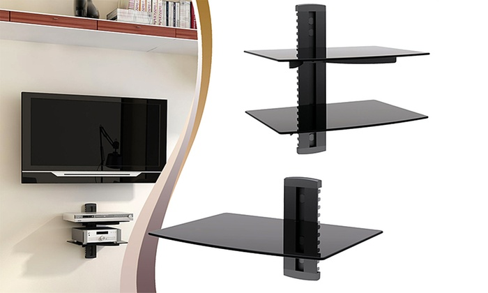 argom tv component shelf groupon goods. Black Bedroom Furniture Sets. Home Design Ideas