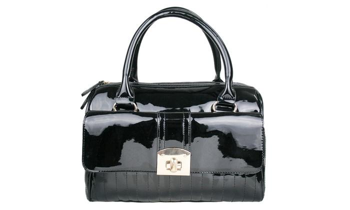 Miss Lulu Patent Fashion Bag