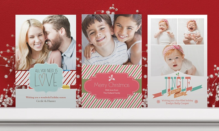 Custom Holiday Cards: 50 or 100 Flat Custom Holiday Cards with Envelopes from Vistaprint. Free Shipping.