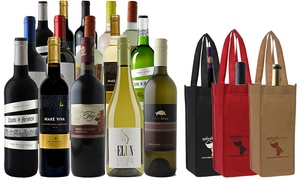 Splash Wines: 15-Bottle Holiday Wine Package with Gift Bags from Splash Wines (78% Off)