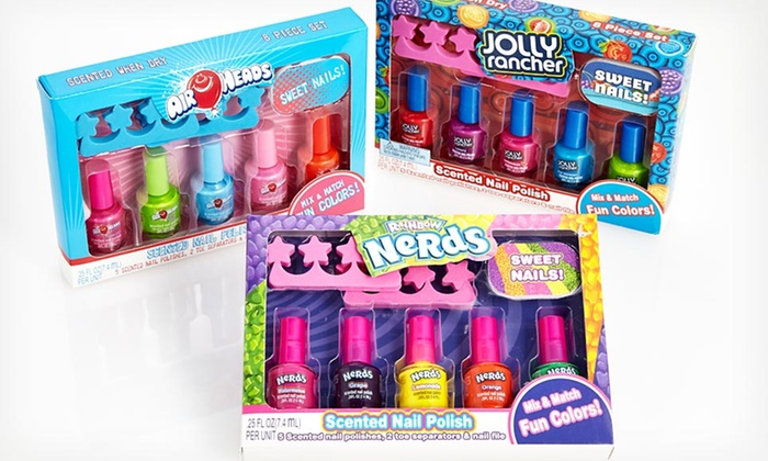 4 99 For A Lotta Luv Candy Scented Nail Polish Set Groupon