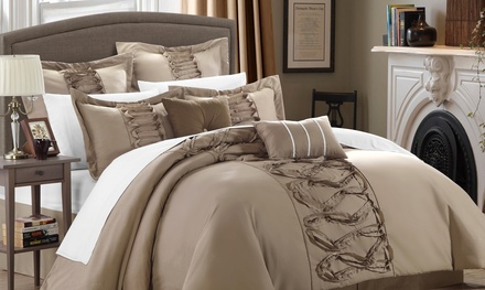 8-Piece Ruth Ruffled Comforter Set. Multiple Options from $69.99–$79.99.