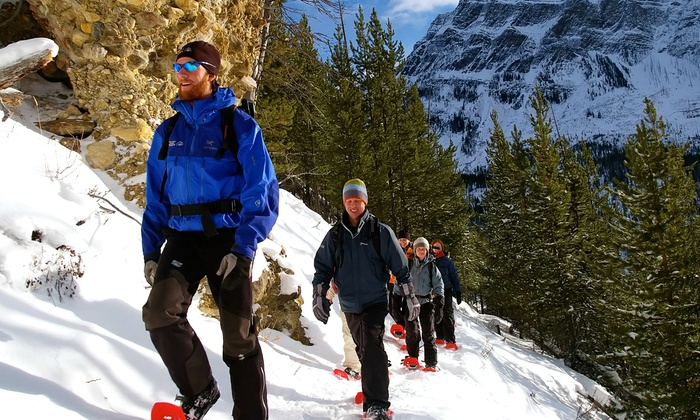Discover Banff Tours - Banff : Snowshoe or Ice Walking Tour for One, Two, or Four from Discover Banff Tours (Up to 44% Off)