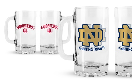 NCAA Glass Tankards 2-Pack