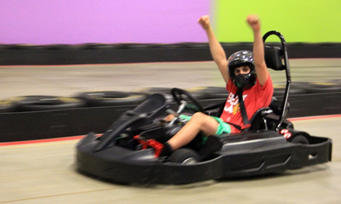 Party Fantasy - Multiple Locations: Two or Four Five-Minute Indoor Go-Kart Heats at Party Fantasy (Up to 52% Off)
