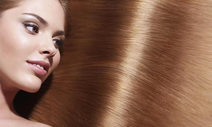 Perfect Ten Salon and Spa - Woodedge Village: Brazilian Straightening Treatment from Perfect10 Salon & Spa (55% Off)