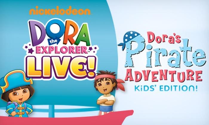 """Dora The Explorer LIVE: Dora's Pirate Adventure"" - Randolph Theatre: ""Dora the Explorer LIVE: Dora's Pirate Adventure"" at Randolph Theatre. Multiple Dates October 5–20 (Up to 38% Off)."