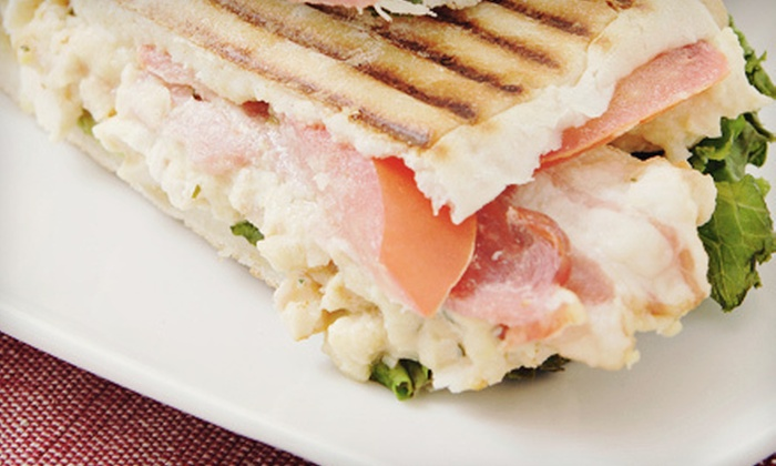 Jeanne's Gelato & More - Lincoln / Bellemeade: $8 for Paninis and Drinks for Two at Jeanne's Gelato & More (Up to $16 Value)