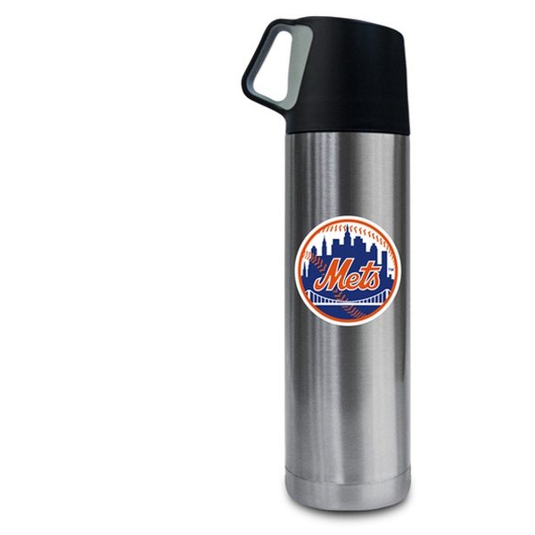 MLB New York Yankees 17oz Double Wall Stainless Steel Coffee Thermos with Cup
